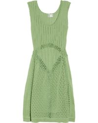 Philosophy di Alberta Ferretti Crocheted Cotton Dress - Lyst
