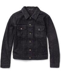 Saint Laurent Slimfit Denim Jacket - Lyst