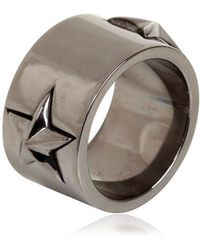 Tomasz Donocik - Blackened Silver Star Ring - Lyst