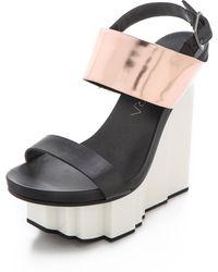 United Nude - Rockerfeller Wedge Sandals - Lyst