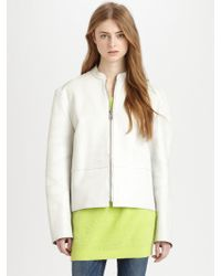 Acne Studios Alaine Belted Leather Jacket - Lyst