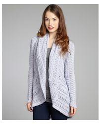 Autumn Cashmere  Pointelle Cotton Draped Cardigan - Lyst