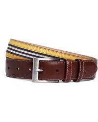 Brooks Brothers - Nubuck Striped Belt - Lyst