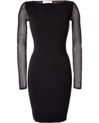 Emilio Pucci Black Stretch Knit Dress - Lyst