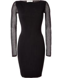 Emilio Pucci Black Stretch Knit Dress - Lyst
