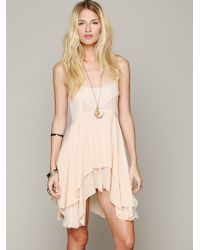 Free People Pieced Lace Tunic - Lyst