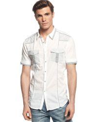 Inc International Concepts Short Sleeve Hampstead Shirt - Lyst