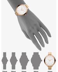 Michael Kors - Runway Rose Goldtone Stainless Steel & Vachetta Leather Strap Watch - Lyst