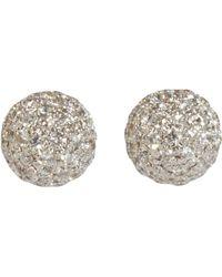 Shamballa Jewels - Pave Diamond Ball Stud Earrings - Lyst