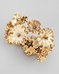 Colette Malouf - Enameled Flower Bracelet - Lyst