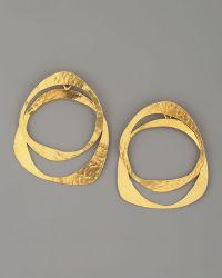 Herve Van Der Straeten - Circle Earrings - Lyst