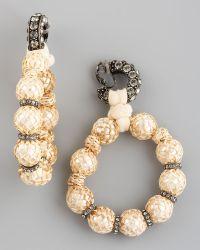 Lanvin - Raffia-wrapped Earrings - Lyst