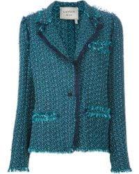 Lanvin Tweed Jacket blue - Lyst