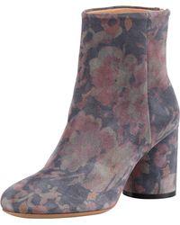 Maison Margiela Floralprint Suede Ankle Boot - Lyst