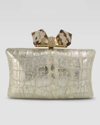 Overture Judith Leiber - Vanessa Large Embossed Concave Clutch Bag - Lyst