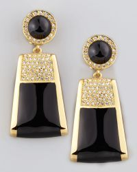 Rachel Zoe - Rectangle Drop Clip Earrings - Lyst