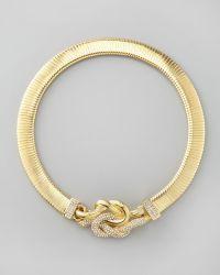 Rachel Zoe - Love Me Knot Collar Necklace - Lyst