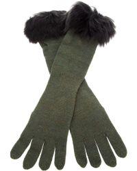 Ralph Lauren Blue Label | Fur Trim Glove | Lyst