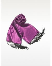 Basile - Shimmering Metallic Evening Stole - Lyst