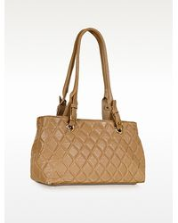 Fontanelli Quilted Leather Satchel Bag - Lyst