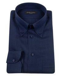 FORZIERI -  Linen Buttondown Dress Shirt - Lyst