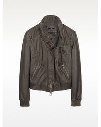 Forzieri Leather Motorcycle Jacket - Lyst
