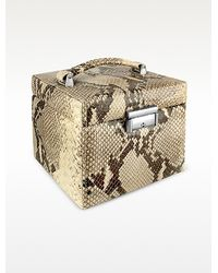 FORZIERI - Handmade Python Stamped Italian Leather Jewelry Box - Lyst
