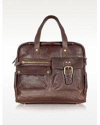 Fossil - Decker Leather Messenger Bag - Lyst