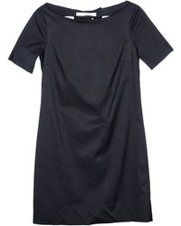 Jucca Short Sleeve Boat Neckline Black Short Dress - Lyst