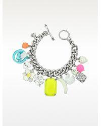 Juicy Couture - White Fruit Charm Bracelet - Lyst