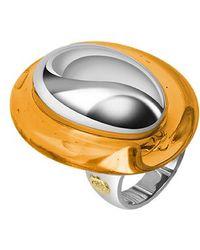 Masini - Vanita' - Amber Sterling Silver Oval Ring - Lyst