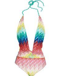 Missoni Crochetknit Swimsuit - Lyst