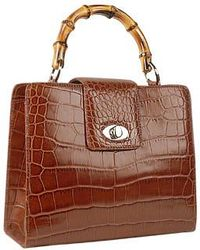 Buti - Brown Croco-embossed Leather Compact Tote Bag - Lyst