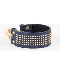 Bebe Mini Stud Leather Bracelet - Lyst