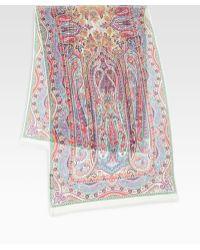 Etro Silk Calcutta Paisley Scarf - Lyst