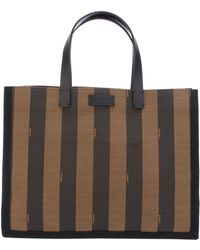 Fendi Pequin Shopper Bag - Lyst