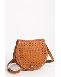 Rebecca Minkoff Skylar Wicker Woven Leather Crossbody Bag - Lyst