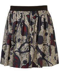 Topshop Full Floral Swoosh Skirt - Lyst