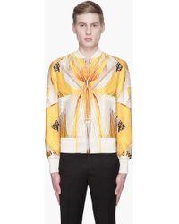 Alexander McQueen Mens Dragonfly Wings Silk Bomber Jacket - Lyst