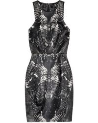 Aminaka Wilmont Printed Satin Dress - Lyst