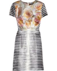 Aminaka Wilmont Printed Stretch-satin Dress - Lyst