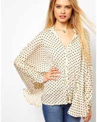 ASOS Collection   Oversized Shirt in Spot Print   Lyst