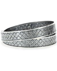 Bottega Veneta Double Intrecciato Bracelet silver - Lyst