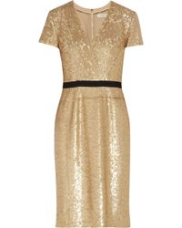 Burberry Sequined Wrap-Effect Dress - Lyst