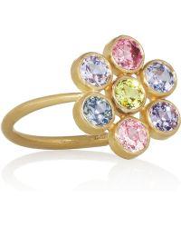 Marie-hélène De Taillac - Tiny Marguerite 22karat Gold Sapphire Ring - Lyst