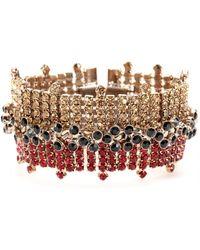Marni Crystal Bead Embellished Bracelet red - Lyst