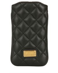 Boutique Moschino - Quilted Leather Bow Iphone Case - Lyst