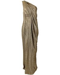 Notte by Marchesa One Shoulder Grecian Gown gold - Lyst
