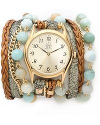 Sara Designs - Agate Watch - Lyst