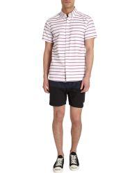 Saturdays Surf Nyc White Striped Shirt - Lyst